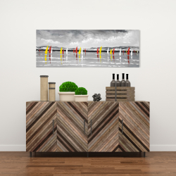 Canvas 16 x 48 - Sailing on the lake