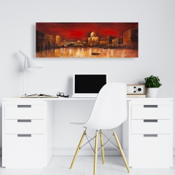 Canvas 16 x 48 - City by red dawn