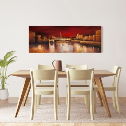 Canvas 16 x 48 - Paris by red dawn