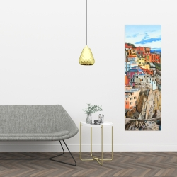 Canvas 16 x 48 - View of manarola in italy