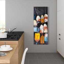 Canvas 16 x 48 - Vintage lobster buoys