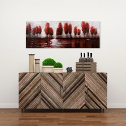 Canvas 16 x 48 - Red trees