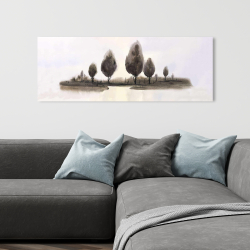 Canvas 16 x 48 - Abstract landscape of trees