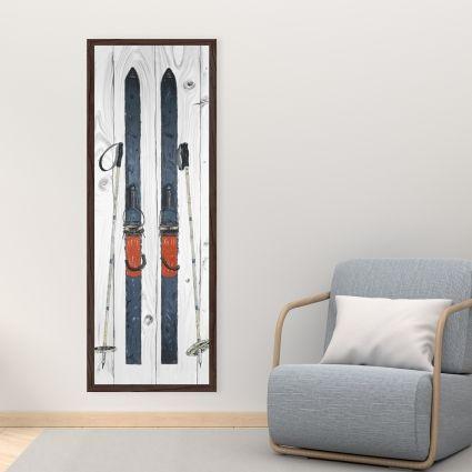 Blue ski vintage