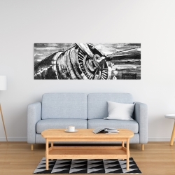 Canvas 16 x 48 - Airplane propeller