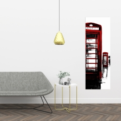 Canvas 16 x 48 - Telephone box and big ben of london