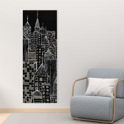 Canvas 16 x 48 - Illustrative city towers