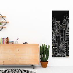 Canvas 16 x 48 - Illustrative city towers