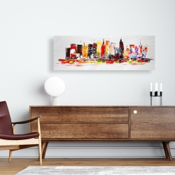 Canvas 16 x 48 - City in bright colors