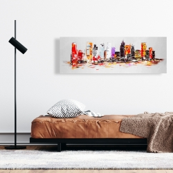 Canvas 16 x 48 - Abstract city in bright colors