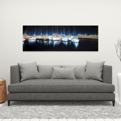Canvas 16 x 48 - Evening at the marina