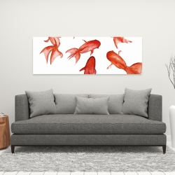 Canvas 16 x 48 - Red fishes