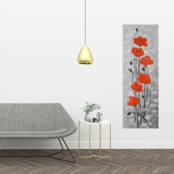 Canvas 16 x 48 - Big red flowers