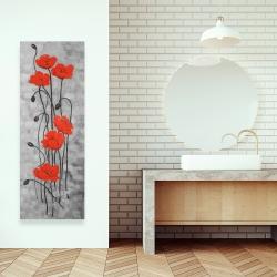 Canvas 16 x 48 - Long stem flowers