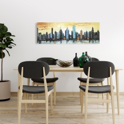 Canvas 16 x 48 - Skyline on cityscape