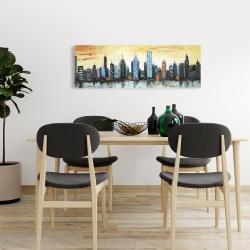 Canvas 16 x 48 - Skyline on cityscape