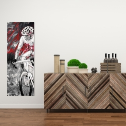 Canvas 16 x 48 - Professional red cyclist