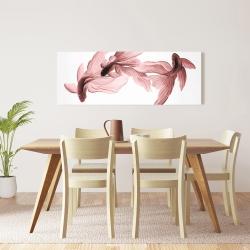 Canvas 16 x 48 - Red betta fish