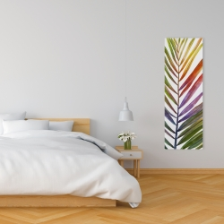 Canvas 16 x 48 - Watercolor tropical palm leave