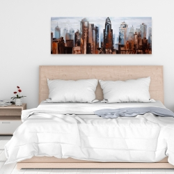 Canvas 16 x 48 - Sullen day in the city