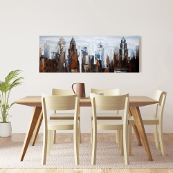 Canvas 16 x 48 - Gray day in the city