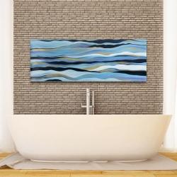 Canvas 16 x 48 - Blue sweep