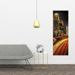 Canvas 16 x 48 - Lively city by night