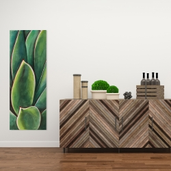 Canvas 16 x 48 - Watercolor agave plant