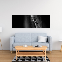 Canvas 16 x 48 - Black horse
