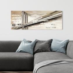 Canvas 16 x 48 - City brige