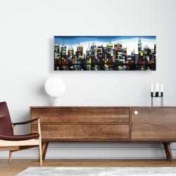 Canvas 16 x 48 - Colorful skyline