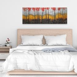 Canvas 16 x 48 - Abstract autumn trees