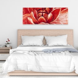 Canvas 16 x 48 - Red chrysanthemum