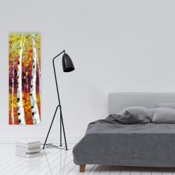 Canvas 16 x 48 - Colored birches