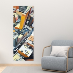 Canvas 16 x 48 - High top view of buildings in new york