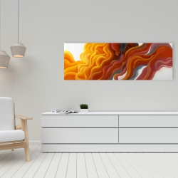 Canvas 16 x 48 - Colorful smoke