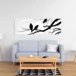 Canvas 16 x 48 - Silhouette of birds