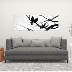 Canvas 16 x 48 - Birds and branches silhouette