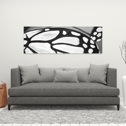 Canvas 16 x 48 - Butterfly wings closeup