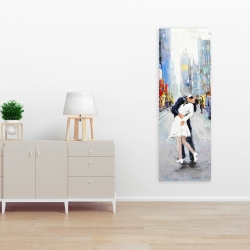 Canvas 16 x 48 - Couple kissing on the street