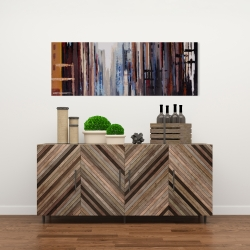 Canvas 16 x 48 - Abstract buildings