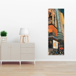 Canvas 16 x 48 - Illuminated new york city street