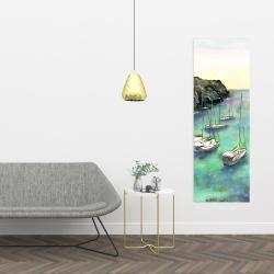 Canvas 16 x 48 - Boats in cala macarella