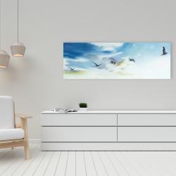 Toile 16 x 48 - Oiseaux dans le ciel
