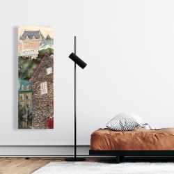 Canvas 16 x 48 - Château frontenac in the petit champlain