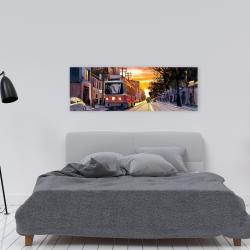 Canvas 16 x 48 - Sunset streetscape to toronto