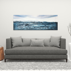 Canvas 16 x 48 - Glaciers in iceland