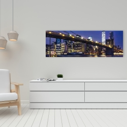Canvas 16 x 48 - City at night