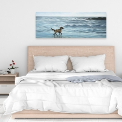 Canvas 16 x 48 - Dog on the beach