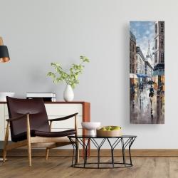 Canvas 16 x 48 - Paris street blue